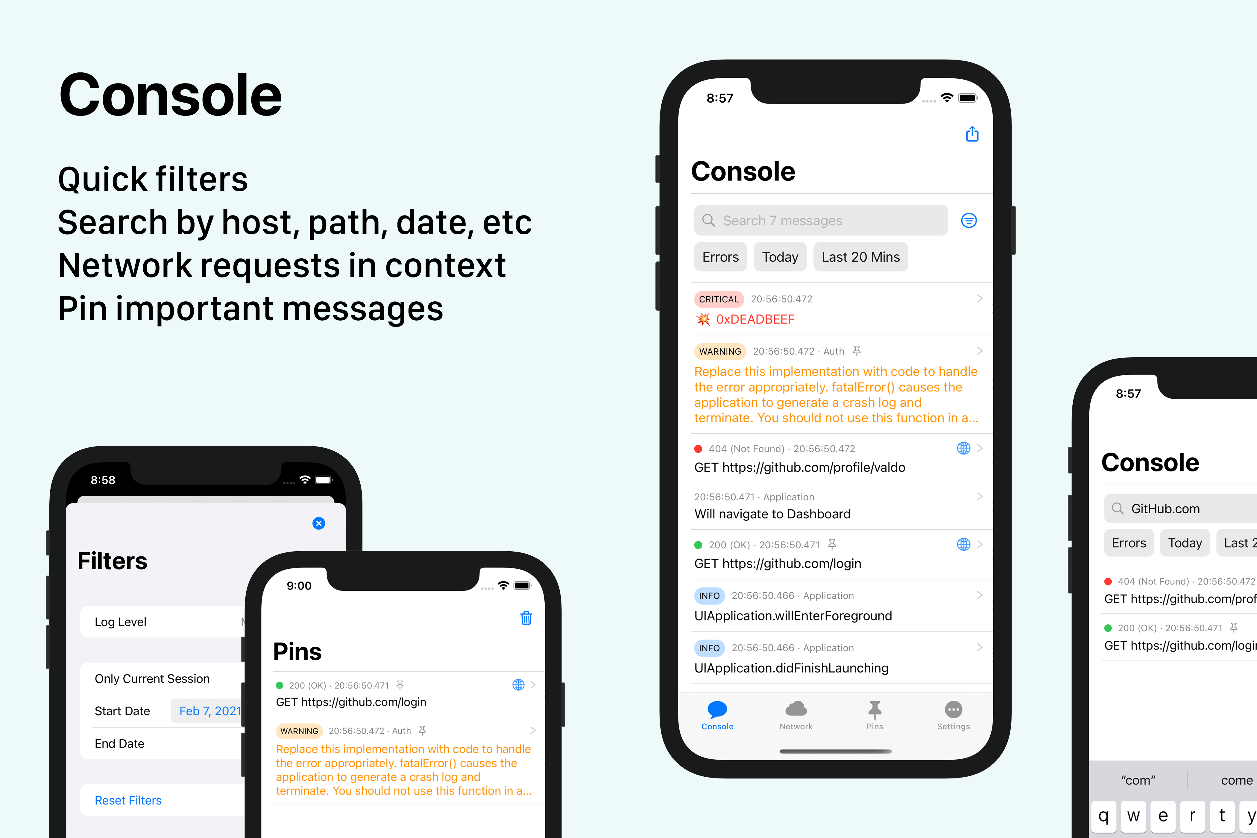 Pulse, a structured logging system built using SwiftUI