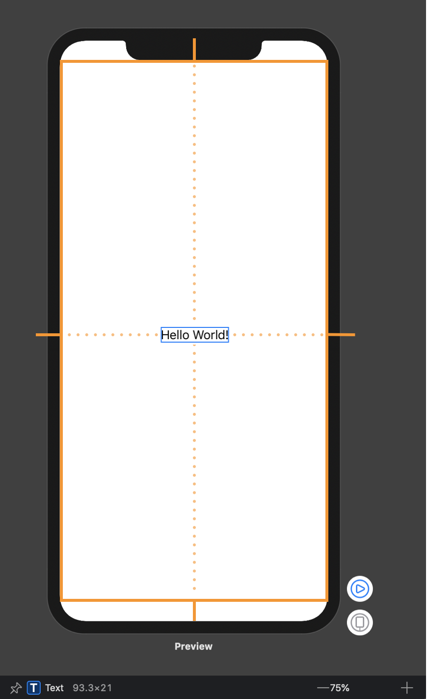 Xcode Canvas screenshot